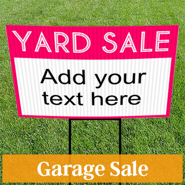 custom yard signs design your own templates next day ship