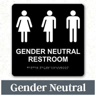 restroom signage ada bathroom etiquette restroom signs custom signs - All Gender Bathroom Sign