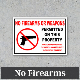Property Signs: No Trespassing or Soliciting - Custom Signs