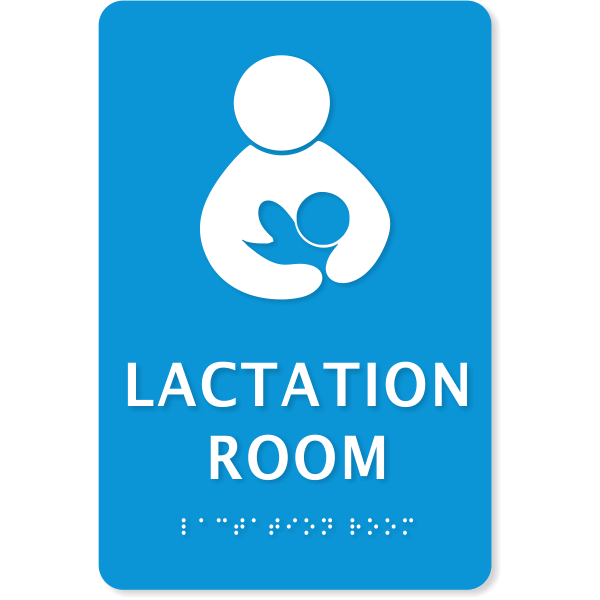 "Lactation Room ADA Sign with Braille | 9"" x 6"""