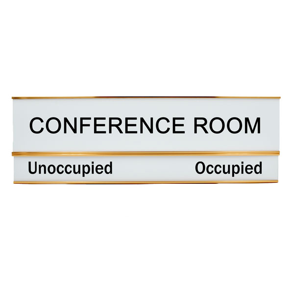 Conference Room Unoccupied Occupied 3 X 8 Slide Sign Without Slider