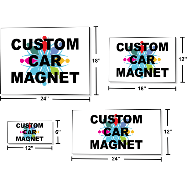 Car Magnetic Signs Multiple Sizes | Set of 2