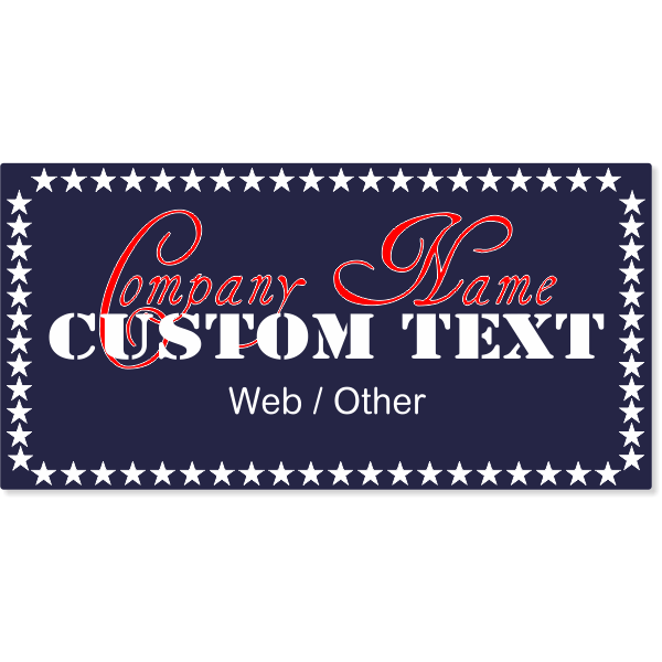 All American Auto Magnetic Sign | Set of 2