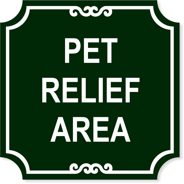 "Pet Relief Engraved Plastic Sign | 12"" x 12"""