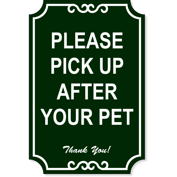 """Pick Up Engraved Plastic Sign   18"""" x 12"""""""