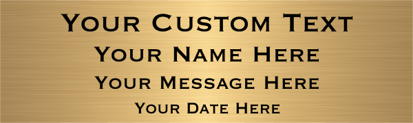 Medium 4 Line Custom Brass Sign