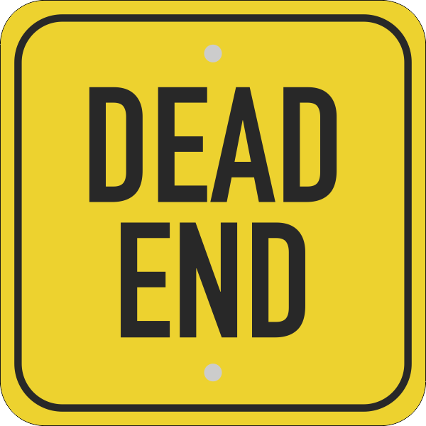Square Dead End Sign
