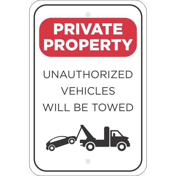 Vertical Tow Away Private Property