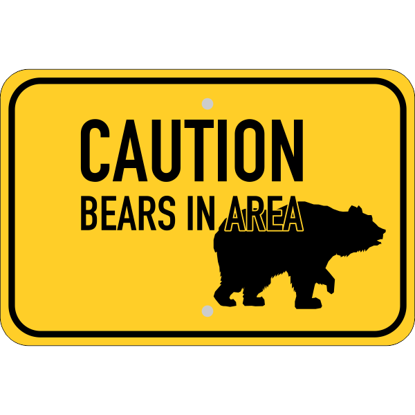 Horizontal Bears In Area Sign