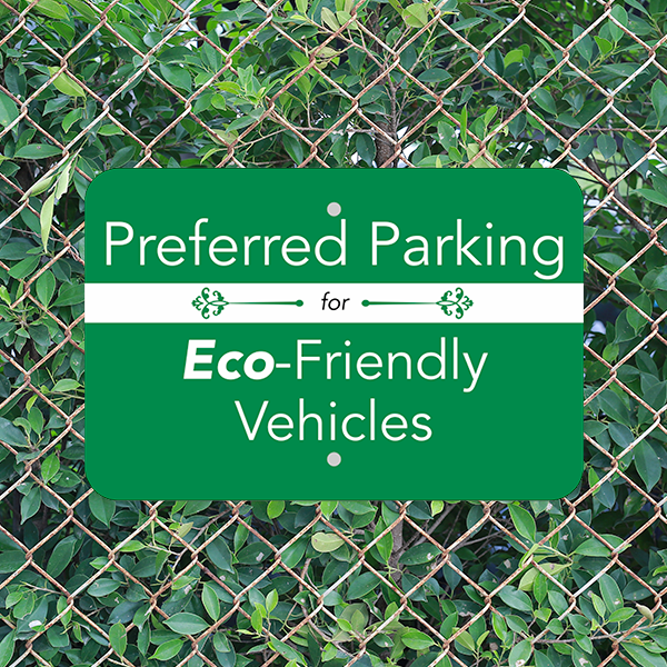 Mounted Horizontal Eco Parking Conserve Sign