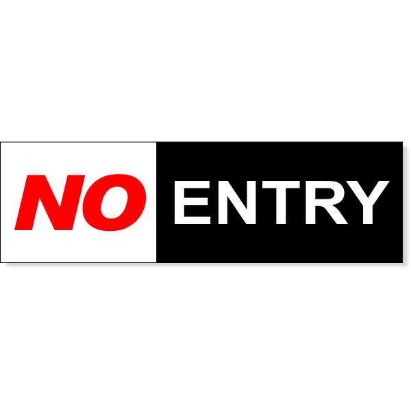 Color No Entry Sign