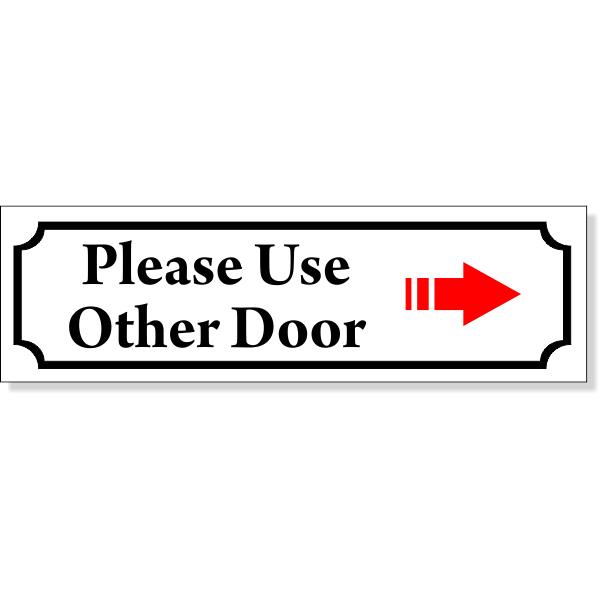 Color Use Other Door Sign