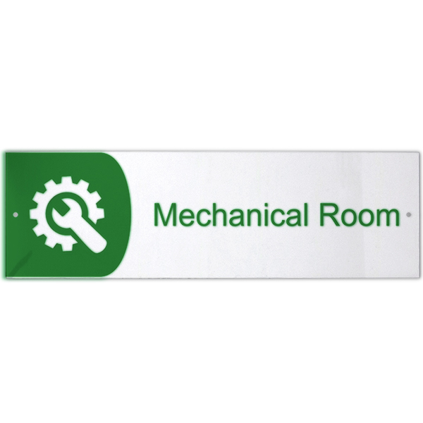 Mechanical Room Icon Acrylic Print Sign 3