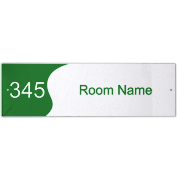 Custom Text Room Name and Number Acrylic Print Sign Wave - 3