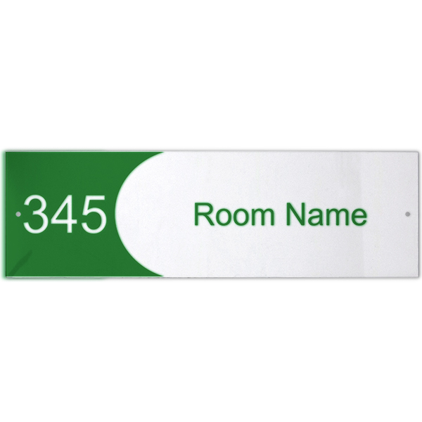 Custom Text Room Name and Number Acrylic Print Sign Concave - 3
