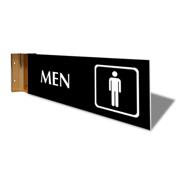 "Men's Room Icon Projection Sign | 4"" x 12"""