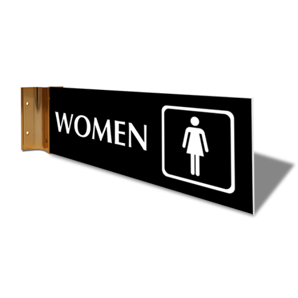 """Women's Room Icon Projection Sign 