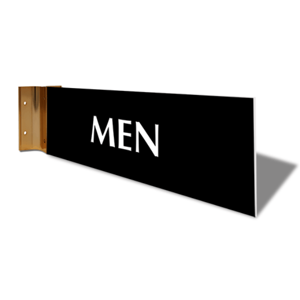 "Men's Room Projection Sign | 4"" x 12"""