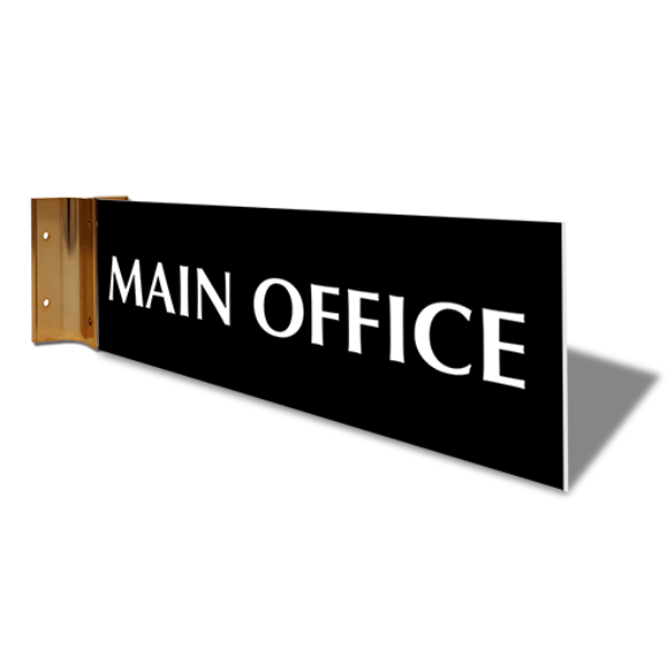"""Main Office Projection Sign   4"""" x 12"""""""