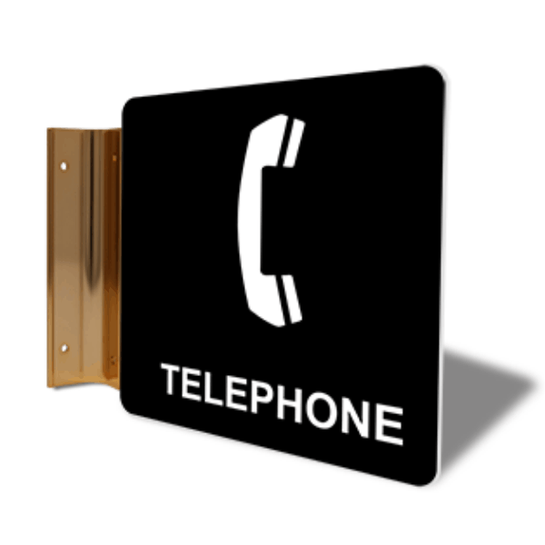 "Telephone Projection Sign | 6"" x 6"""