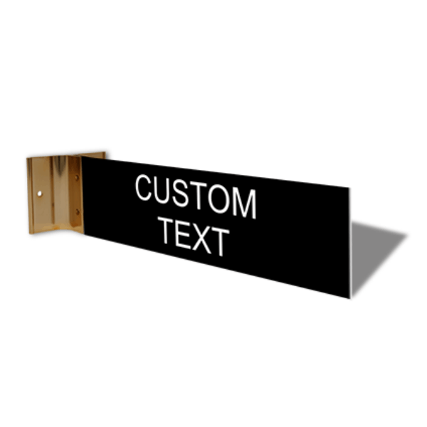 "Custom Text Projection Sign | 2"" x 8"""