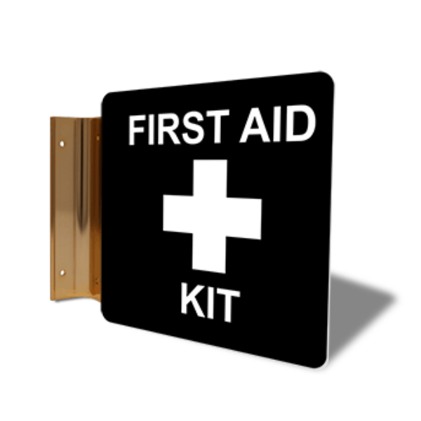 "First Aid Kit Projection Sign | 6"" x 6"""