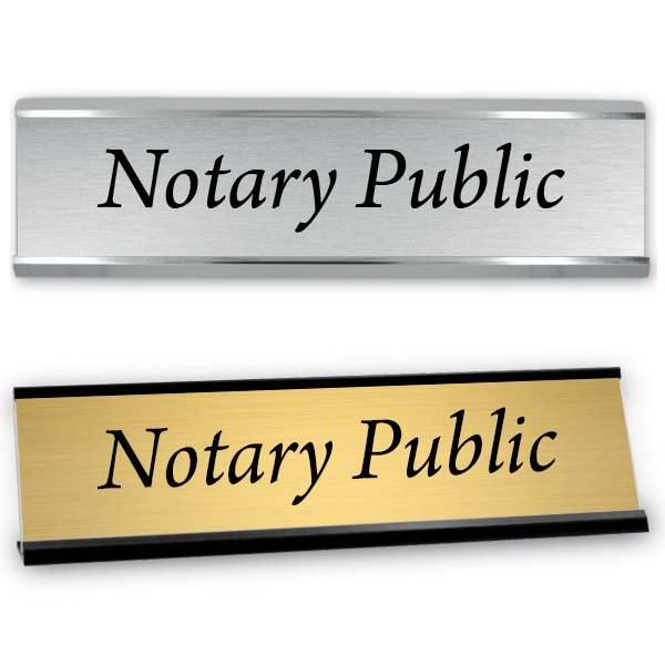 """Notary Public Sign with Frame 