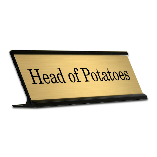 Head of Potatoes Funny Desk Plate
