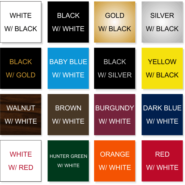 Top 16 Color Combinations