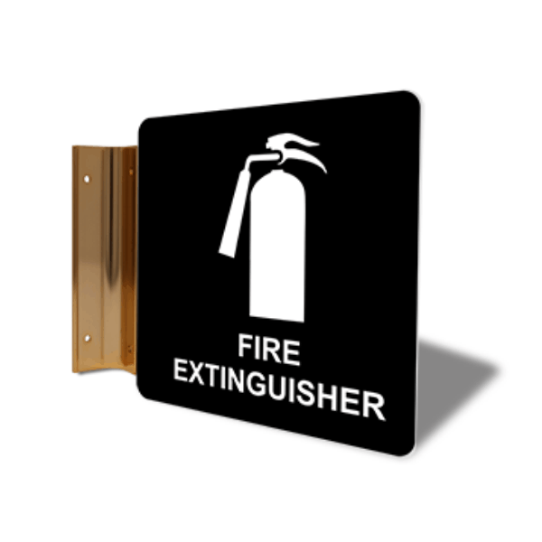 "Fire Extinguisher Projection Sign | 6"" x 6"""