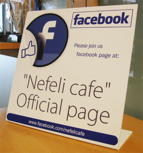"12"" x 12"" Free-Standing Facebook Table Top  Bent Sign"
