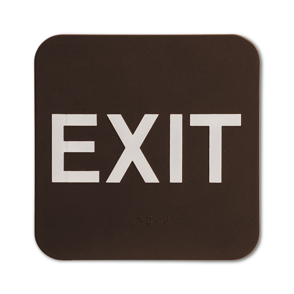 Brown Exit ADA Braille Sign