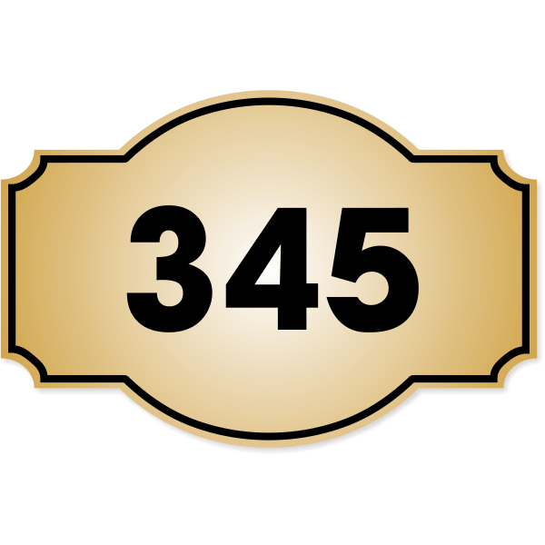 """Decorative Dome Badge Number Sign 