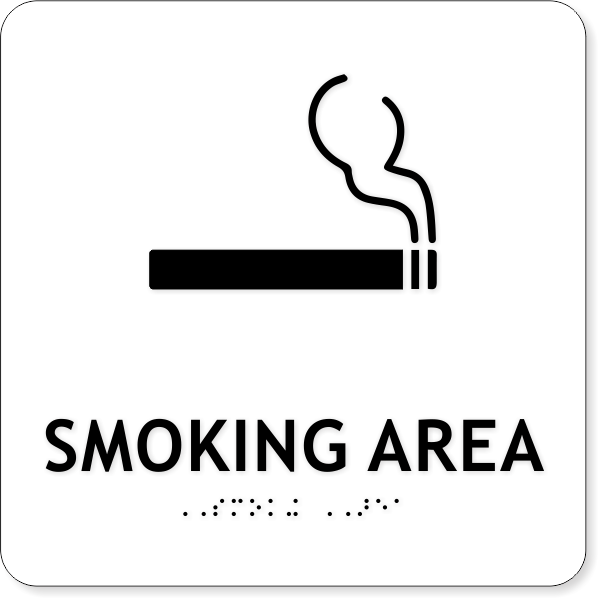 "ADA Smoking Area Icon Sign | 8"" x 8"""
