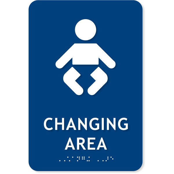 "ADA Baby Changing Area Icon Sign | 9"" x 6"""