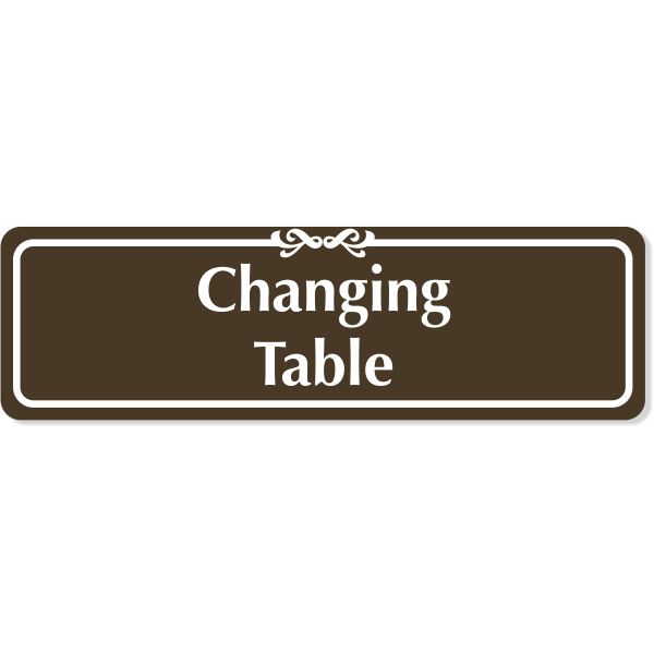 """Changing Table Engraved Plastic Sign 