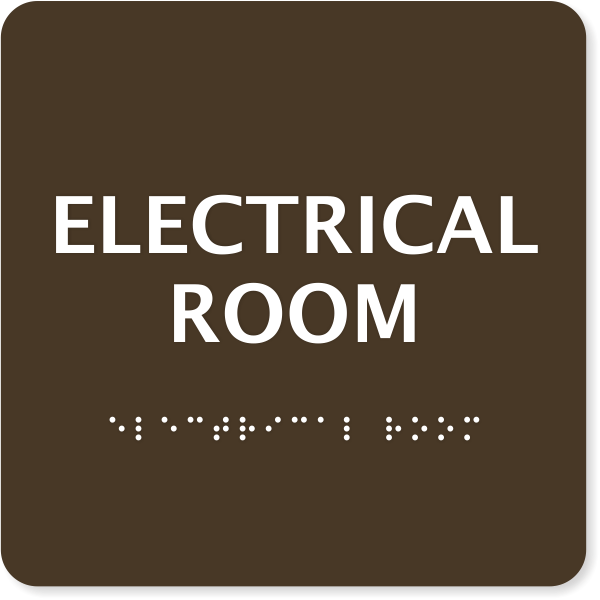"""ADA Braille Electrical Room Sign 