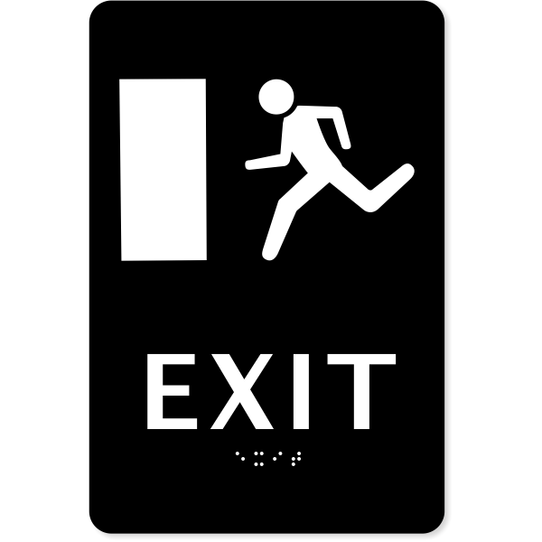 "ADA Braille Exit Sign | 9"" x 6"""