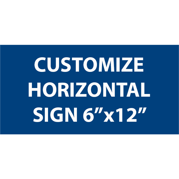 Engraved Sign Horizontal 6
