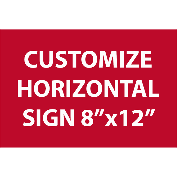 Engraved Sign Horizontal 8