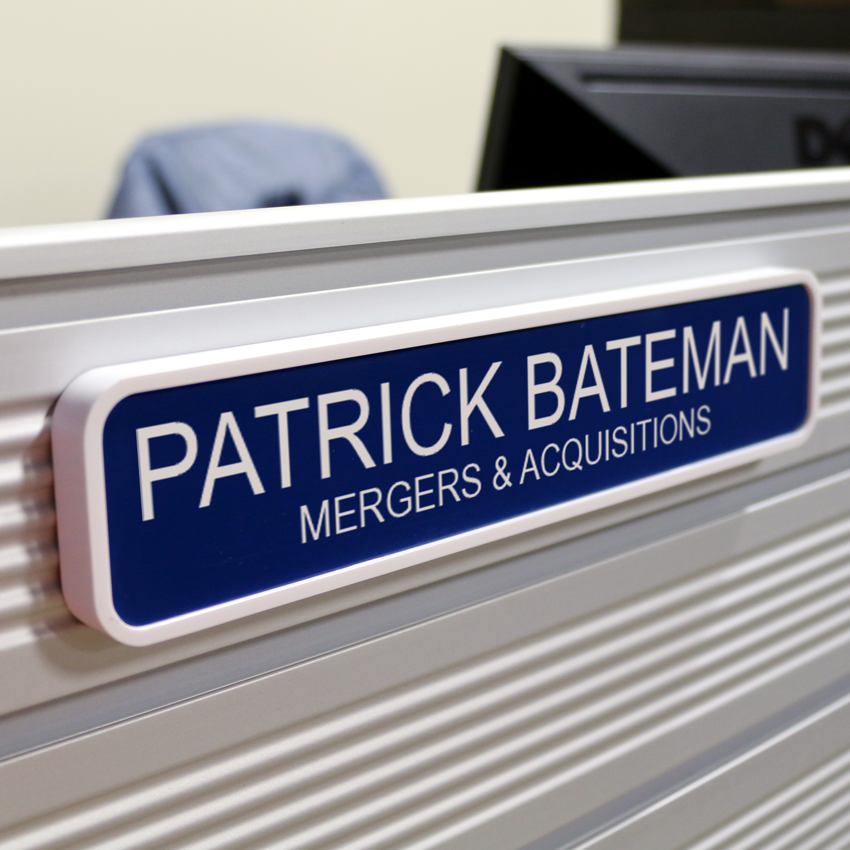 Engraved Office Name Plate for Wall or Door - 2x8 with Rounded ...