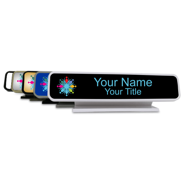 Rounded Full Color Desk Sign - 2