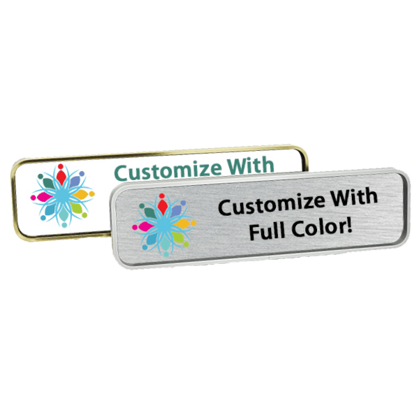 Full Color Custom Metal Name Plate for Office Walls and Doors