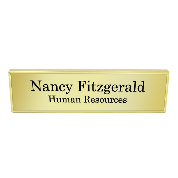 Wall Name Plate Engraved with Holder