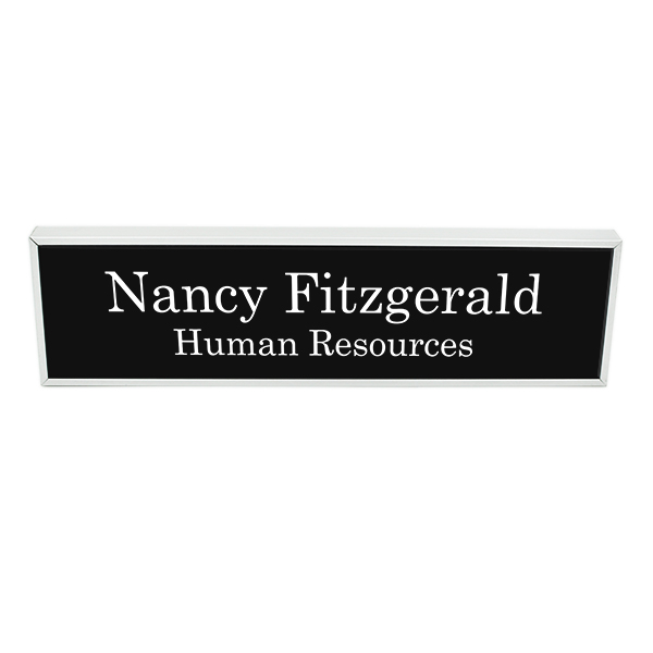 Engraved Wall Name Plate with Holder