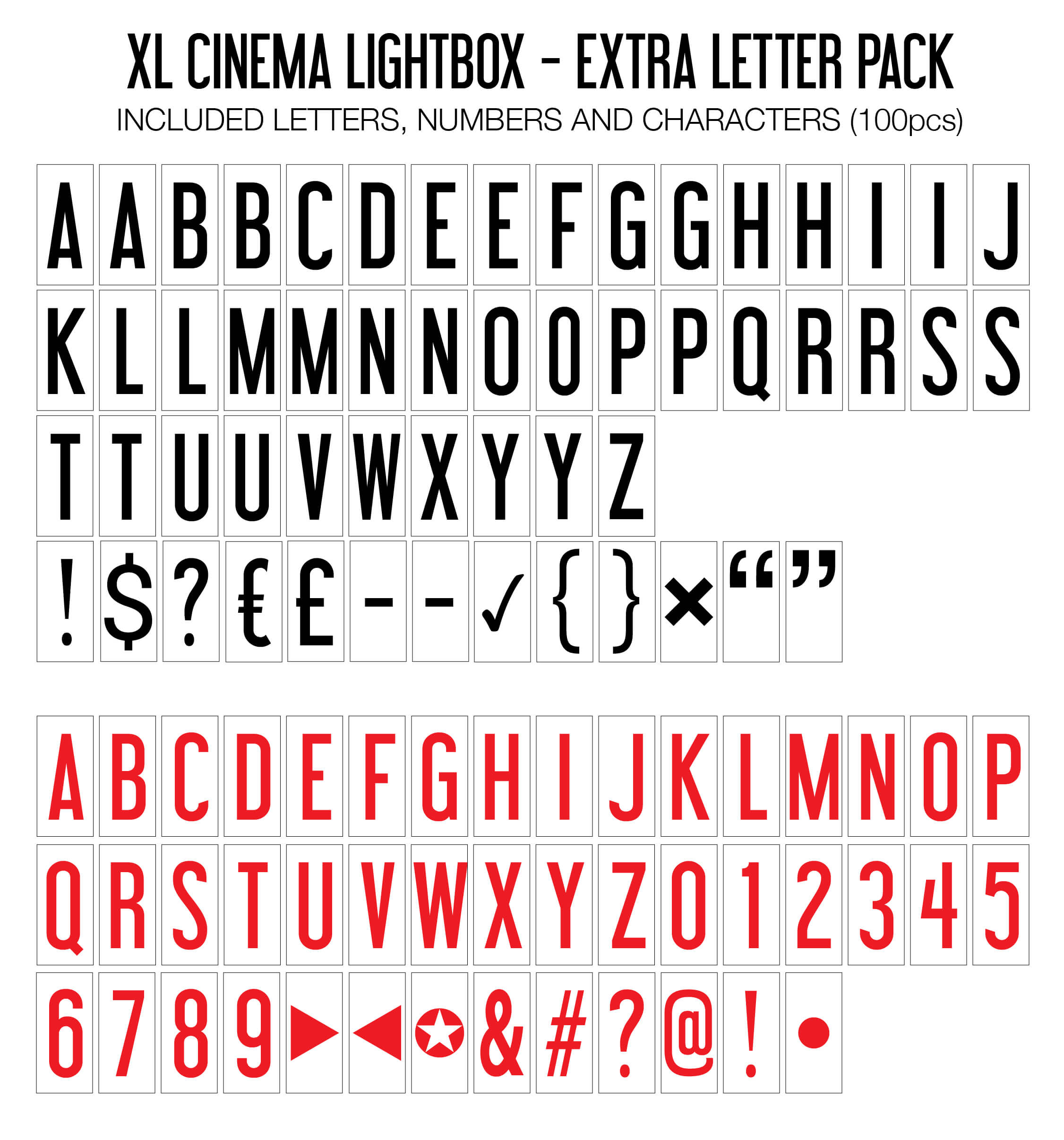 Light Box Letter and Symbols Packs