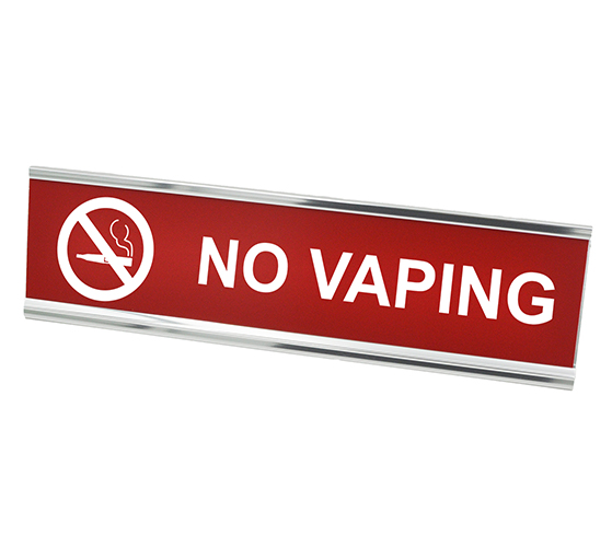 "No Vaping Desk Plate | 2"" x 8"""