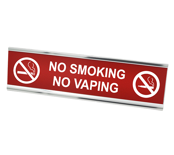 No Smoking No Vaping Desk Plate