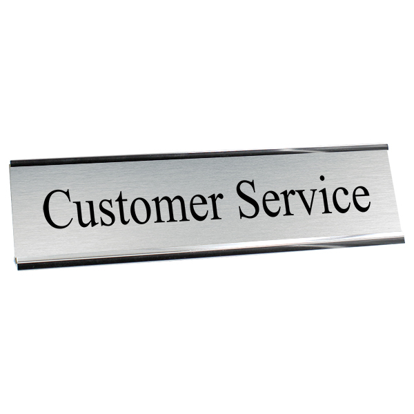 Customer Service Desk Plate