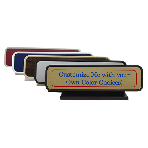 Rounded Full Color Desk Sign- 2